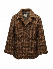 Womens jackets online: Coohem Brown tweed down blazer