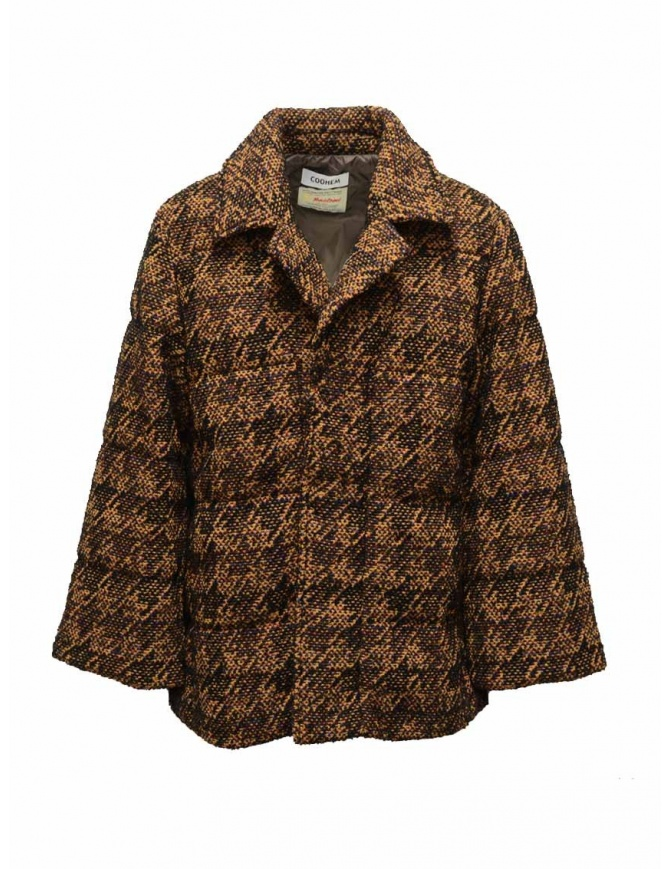 Coohem Brown tweed down blazer 204-020 BROWN