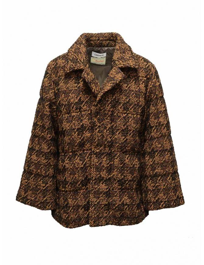 Coohem Giacca imbottita in tweed marrone 204-020 BROWN giubbini donna online shopping