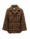 Coohem Giacca imbottita in tweed marrone acquista online 204-020 BROWN