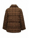 Coohem Brown tweed down blazer shop online womens jackets
