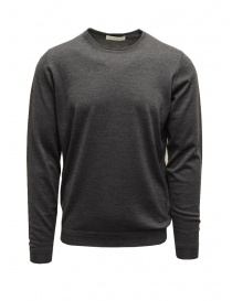 Mens knitwear online: Goes Botanical steel grey crewneck sweater
