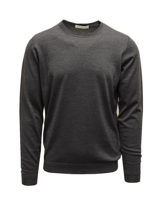 Goes Botanical steel grey crewneck sweater 101 1001 ACCIAIO mens knitwear online shopping