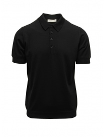 Mens t shirts online: Goes Botanical black short-sleeved polo shirt