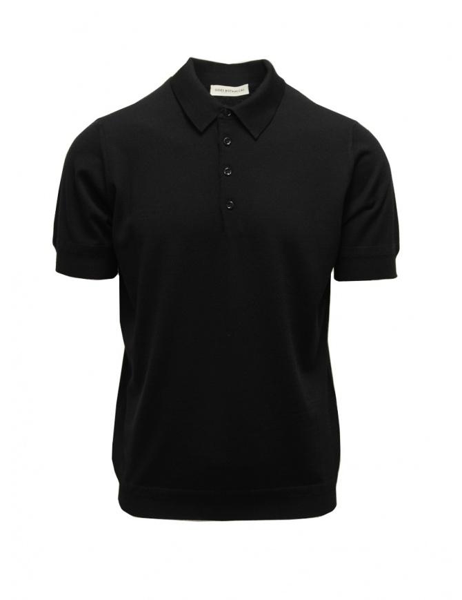 Goes Botanical polo a maniche corte nera 105 NERO t shirt uomo online shopping