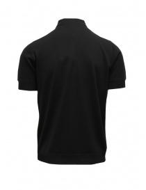 Goes Botanical black short-sleeved polo shirt