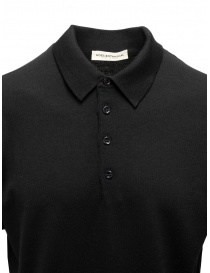 Goes Botanical black short-sleeved polo shirt price