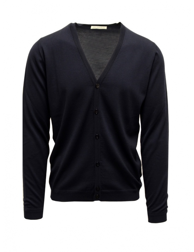 Goes Botanical 6 button blue cardigan 125 3343 BLU mens cardigans online shopping