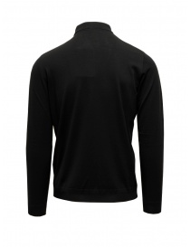 Goes Botanical black long-sleeve polo shirt