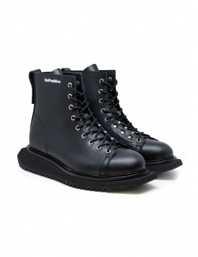 BePositive Punk Kawa black leather boots for man F0KAWA01/PNK/BLK mens shoes online shopping