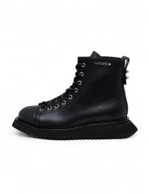 BePositive Punk Kawa black leather boots for man