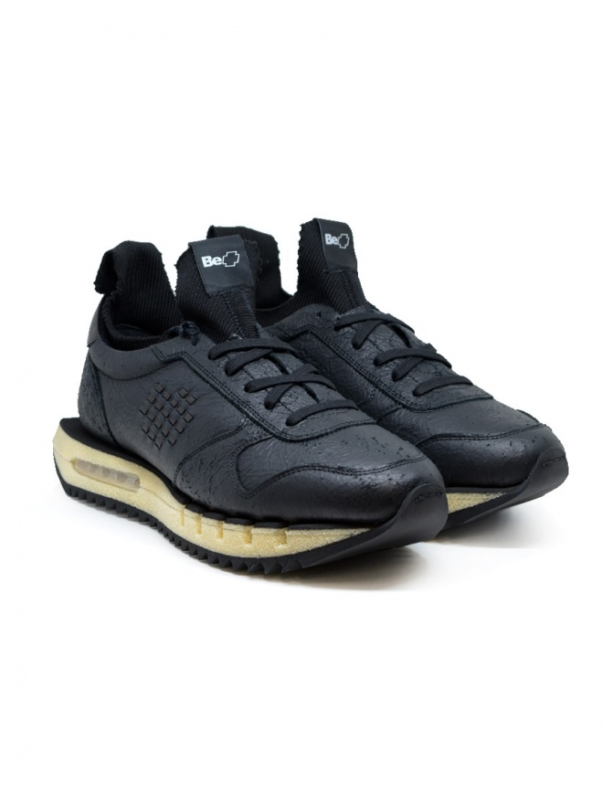 Bepositive Cyber Plus black leather sneakers F0CYBER02/SCR/BLK mens shoes online shopping