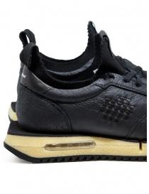 Bepositive Cyber Plus black leather sneakers mens shoes buy online