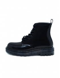 Melissa Coturno black shiny rubber boots