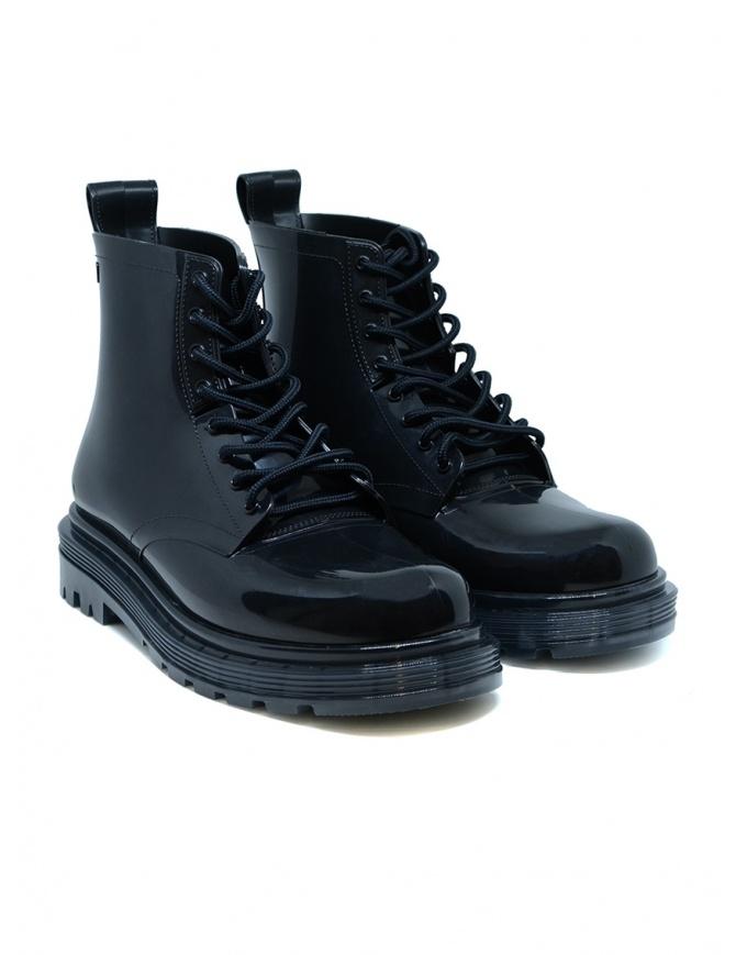 Melissa Coturno anfibi in gomma lucida neri 32822-01003 BLACK calzature donna online shopping