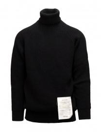 Maglieria uomo online: Ballantyne Raw Diamond maglione dolcevita nero