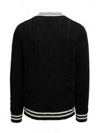 Ballantyne pullover scollo a V nero e bianco