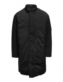 Mens coats online: Descente Pause black down jacket with mandarin collar