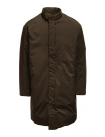 Mens coats online: Descente Pause brown stand collar down coat