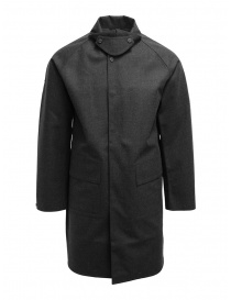 Mens coats online: Descente Pause grey wool blend jacket