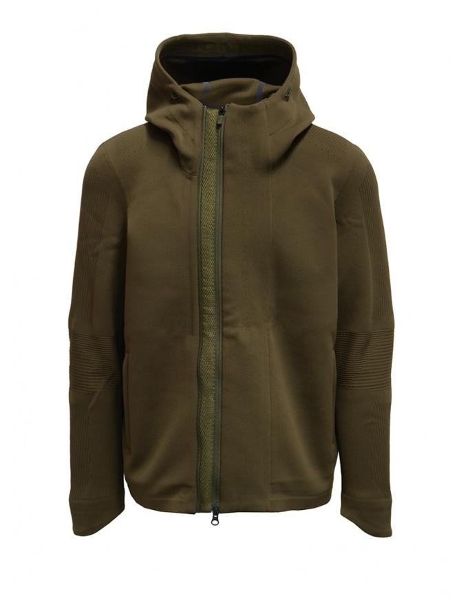 Descente Fusionknit Crescent giacca verde con cappuccio DJMQGL02 GRFK maglieria uomo online shopping