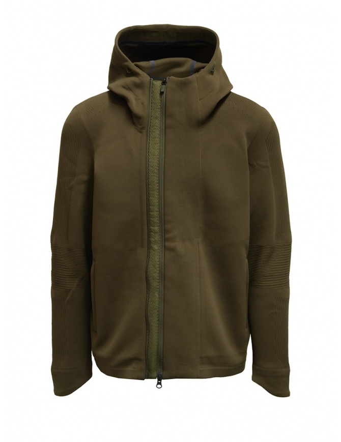 Descente Fusionknit Crescent green hooded jacket DJMQGL02 GRFK mens knitwear online shopping