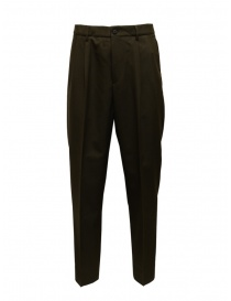 Cellar Door bottle green wool blend trousers online