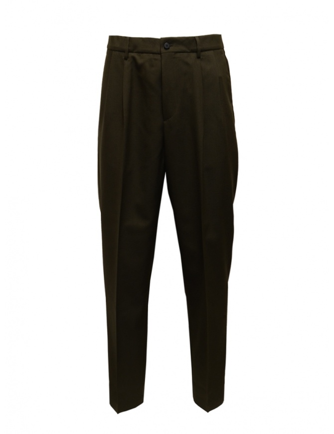 Cellar Door bottle green wool blend trousers MODLU MW148 78 BOTTIGLIA mens trousers online shopping