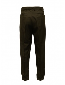 Cellar Door bottle green wool blend trousers buy online
