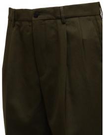 Cellar Door pantaloni misto lana verde bottiglia prezzo