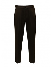 Cellar Door brown trousers with pleats LEOT MQ124 08 MARRONE order online