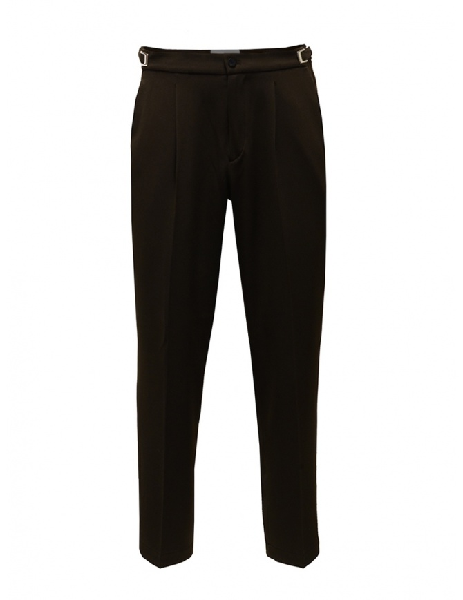 Cellar Door pantaloni marroni con le pinces LEOT MQ124 08 MARRONE pantaloni uomo online shopping