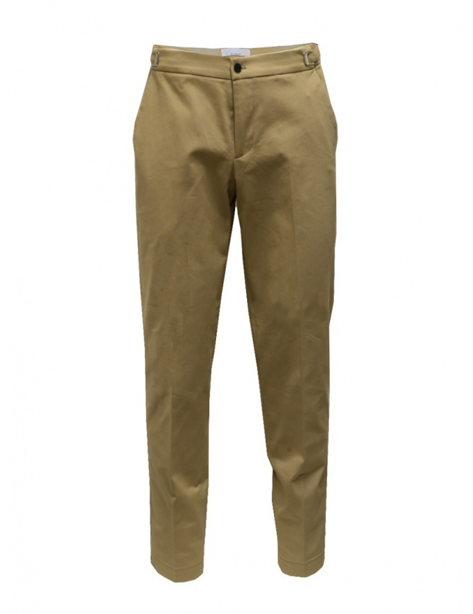 Cellar Door classic style trousers in beige LEOT NO PINCES MC400 04 BEIGE mens trousers online shopping