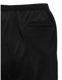 Cellar Door pantalone Alfred nero con elastico in vita
