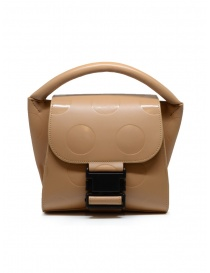 Zucca mini borsa a pois in eco pelle beige online