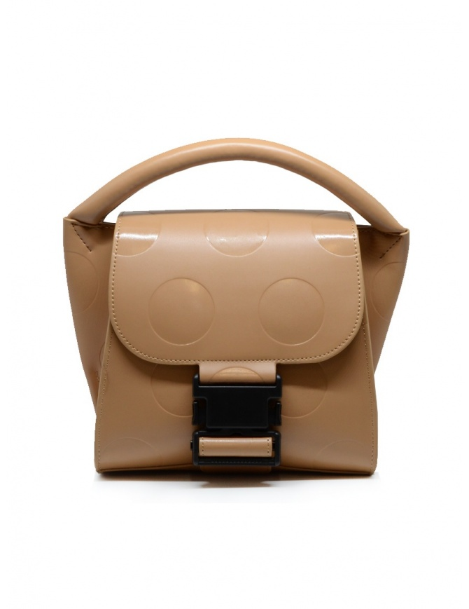 Zucca mini borsa a pois in eco pelle beige ZU09AG120-03 BEIGE borse online shopping