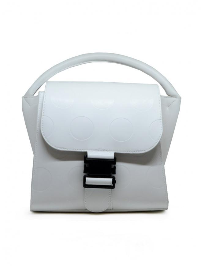 Zucca borsa bianca a pois in ecopelle ZU09AG121-01 WHITE borse online shopping