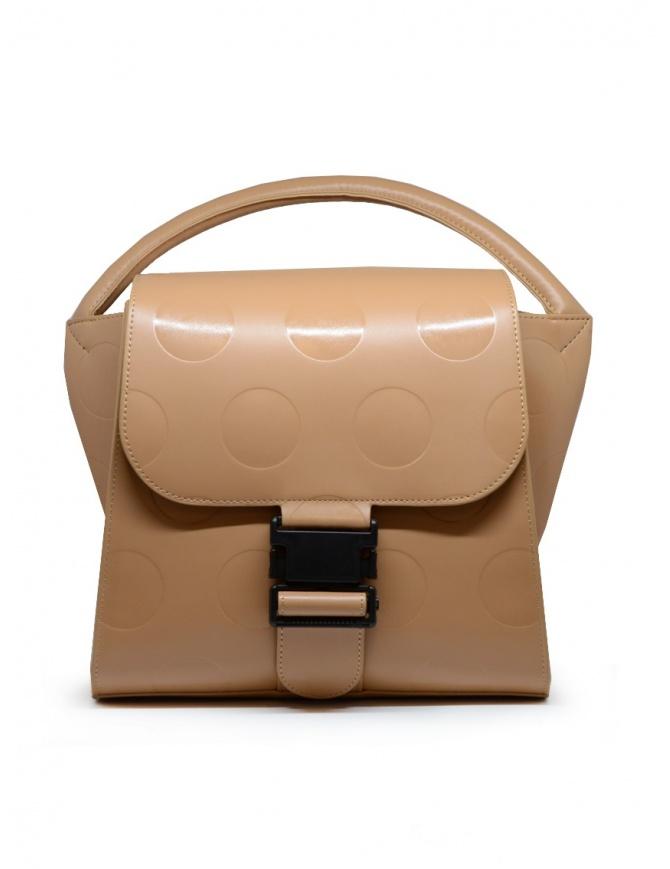 Zucca borsa a pois in ecopelle beige ZU09AG121-03 BEIGE borse online shopping