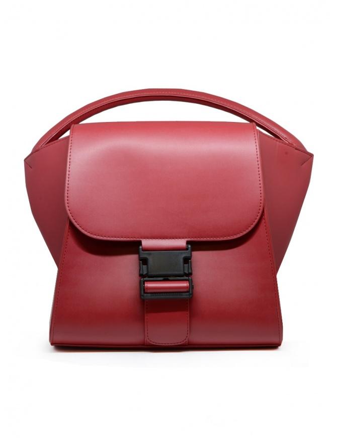 Zucca borsa in ecopelle rossa opaca ZU09AG131-21 RED borse online shopping