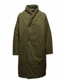 Womens jackets online: Plantation + Descente khaki green padded coat
