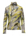 Plantation yellow colored print cotton turtleneck sweatshirt buy online PL09JJ167-06 YELLOW