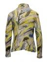 Plantation yellow colored print cotton turtleneck sweatshirt shop online womens knitwear