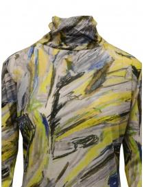 Plantation yellow colored print cotton turtleneck sweatshirt price