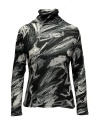 Plantation black and white printed cotton turtleneck sweatshirt buy online PL09JJ167-26 BLACK