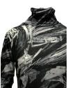 Plantation black and white printed cotton turtleneck sweatshirt PL09JJ167-26 BLACK price