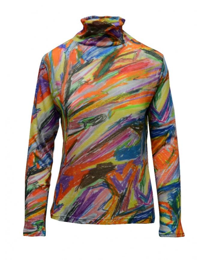 Plantation maglia dolcevita in cotone fantasia multicolore PL09JJ167-29 MULTICOLOR maglieria donna online shopping