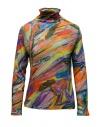 Plantation maglia dolcevita in cotone fantasia multicolore acquista online PL09JJ167-29 MULTICOLOR