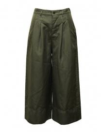 Zucca pantaloni cropped a palazzo verdi con elastico online