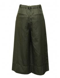 Zucca pantaloni cropped a palazzo verdi con elastico