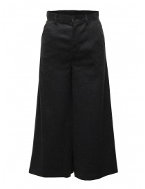 Zucca wide grey cropped wool trousers online